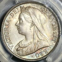 1895 PCGS MS 65 Victoria 1/2 Crown Great Britain Silver Coin (20020501C)