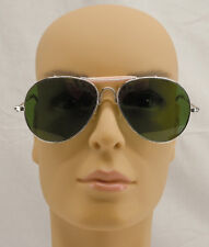 Vintage Opti-Ray Green Lens Aviator Sunglasses with case