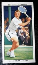 Women's Lawn Tennis Champion   Helen Jacobs USA    Vintage Tennis Card