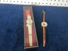 2pc 70s Vtg Spiro Agnew Watches Swiss Made 1-NOS And 1-used Art Or Restore