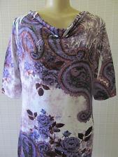 INDIA BOUTIQUE FLORAL PRINT SHORT SLEEVE DRESS SIZE M/L - NWT