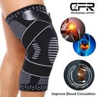 Copper Knee Brace Sleeve Patella Support Stabilizer Sport Joint Arthritis Relief