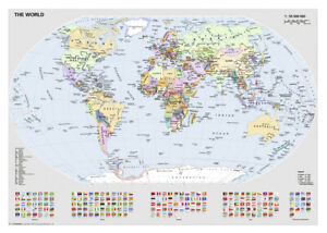 1000 pcs jigsaw puzzle: Political World Map (Original, Maps) - Ravensburger