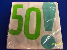 Woohoo 50! White Over the Hill Adult 50th Birthday Party Paper Luncheon Napkins