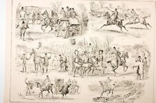 """scènes de chasse anglaise,"""" the warwickshire hunting song"""" fin XIX°"""