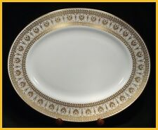 Crown Staffordshire Gold Victoria 13 3/4 Oval Platter -  1st Quality New Unused