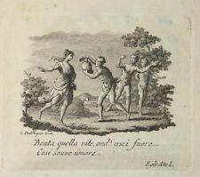 PARNASO ITALIANO - figur. 1786 - TASSO - Aminta - Alceo - Zatta - vignette