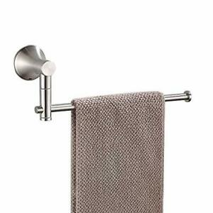BESy SUS304 Stainless Steel Single Hand Towel Bar 10 Inch with Swing Out Arm ...