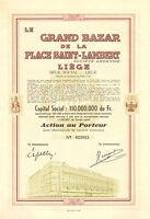 Belgica, Le Grand Bazar de la Place Saint-Lambert SA Liege, accion, 1950