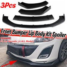 Front Bumper Lip Spoiler Splitters Matte Black For Mazda 2 3 5 6 CX-3 CX-4 CX-5