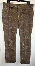 Not Your Daughters Jeans 16P Khaki Camouflage Printed Women's Skinny Jeans NYDJ