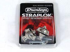 Dunlop Strap Locks - Guitar - Dual Design Strap Retainer System Nickel