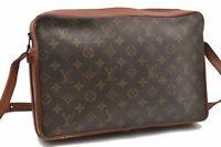Auth Louis Vuitton Monogram Sac Bandouliere 35 Shoulder Bag Old Model LV A9256