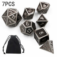 7Pcs Set Resin Rainbow Polyhedral Dice DND RPG MTG Role Playing Game