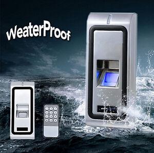 Biometric Waterproof Stainless Steel Fingerprit Access Control Door Reader