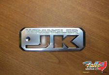 2007-2017 Jeep Wrangler JK Silver & White Emblem Sticker Decal Mopar OEM