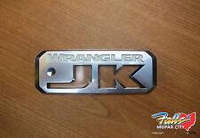 2007-2018 Jeep Wrangler JK Silver & White Emblem Sticker Decal Mopar OEM