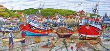 Gibsons - 636 PIECE PANORAMIC JIGSAW PUZZLE - Seagulls At Staithes