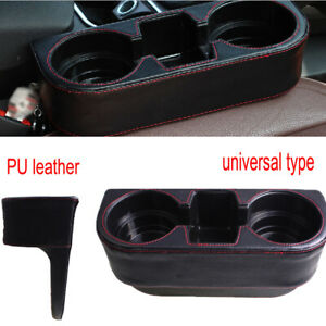 1PC Car Multi-function Slot Storage Box Water Cup Holder Mobile Phone Holder PU
