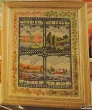 Four Seasons Bucilla Counted Cross Stitch Kit 12.5x9.5 Winter Spring Summer Fall