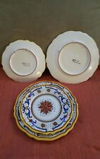 """Vintage Italian DERUTA 2 Plate place setting 10"""" , 8"""" numbered signed, RARE"""