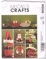 McCall's M5546 SEWING PATTERN - Christmas BAGS PLACEMATS SANTA DOLL coasters