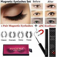 PHOERA MAGNETIC Lash Eyeiner KIT Liner 3D Eyelash Liquid No Glue Easy to wear ~