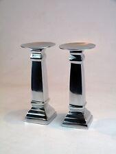 2x Aluminium Kerzenständer Block (M) Teelichthalter 98151