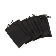 10x Soft Black Pouch Bag for Glasses Sunglasses Cell Phone Cleaning Cloth Dust