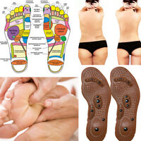 Acupressure Sole Shoes Insole Pressure Points Magnets Reflex Feet Foot Therapy
