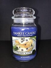 Yankee Candle BLUEBERRY SCONE 22 oz Large Jar Candle / New / FREE SHIP
