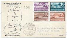 Guinea Española. Sobre circulado por Correo Certificado con sellos de Guinea