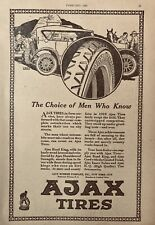 1920 AD.(XF11)~AJAX RUBBER CO. NYC. AJAX ROAD KING TIRES