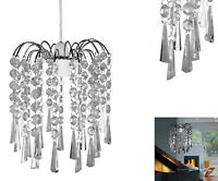 Pendant Acrylic Light Shade Crystal Fitting Chandelier Style Ceiling Light Lamp