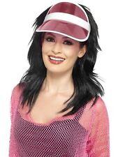 1980s Pink Sun Visor Costume Accessory Genuine Smiffys -