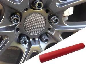4x Jantes en Alliage Volant Couvercle Design Protection Rouge Mat Pour Véhicules