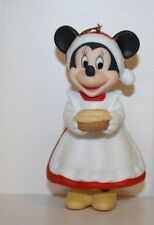 MINNIE PORCELAIN DISNEY GROLIER CHRISTMAS COLLECTIBLE RARE CHRISTMAS ORNAMENT