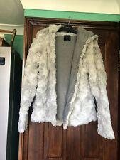 Womens Next Size 20  Grey Faux Fur Hooded Coat