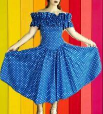 *New Year Sale* Vintage 1980s Barboglio Cristina Jan Prom Polka Dot Dress Xs