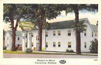 Tuscaloosa Alabama~Shangri-La Motel~Highway Sign US 82~AL 13~1940 Linen Postcard