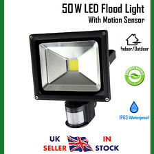 50W LED Cool White Floodlight Motion Sensor Security Flood Light Outdoor On/Off
