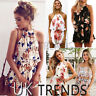 UK Womens 2 Piece Holiday Mini Playsuits Ladies Beach Summer Floral Print Shorts