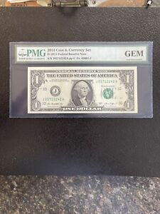 2014 Coin & Currency Set $1 2013 Federal Reserve Note Gem Uncirculated
