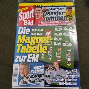 Sport Bild - Ausgabe 22 - mit Magnettabelle - ungeöffnet - EM 2021