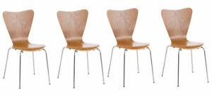 #LA92385/1105 4x Besucherstuhl Calisto eiche Wartezimmerstuhl Messestuhl Stuh
