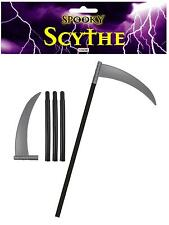 Plastic Scythe 4 Piece Halloween Fancy Dress Prop Weapon Accessory P8876