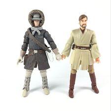 2 Star Wars Saga Legends Obi-wan Kenobi & Han Solo Hoth Legacy Collection Figure