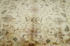 9X11 EXQUISITE ELEGANT NEW HAND KNOTTED GOLD %100 SOFT WOOL OUSHAK TURKISH RUG