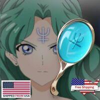 Anime Sailor Moon Makeup Hand Mirror Crystal Neptun Metal Pocket Handheld Mirror