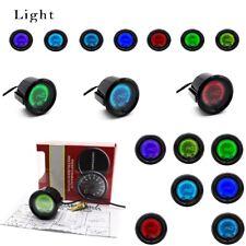 """7 Color 2"""" 52mm Water Temp TEMPERATURE DIGITAL LED METER GAUGE LCD Display"""